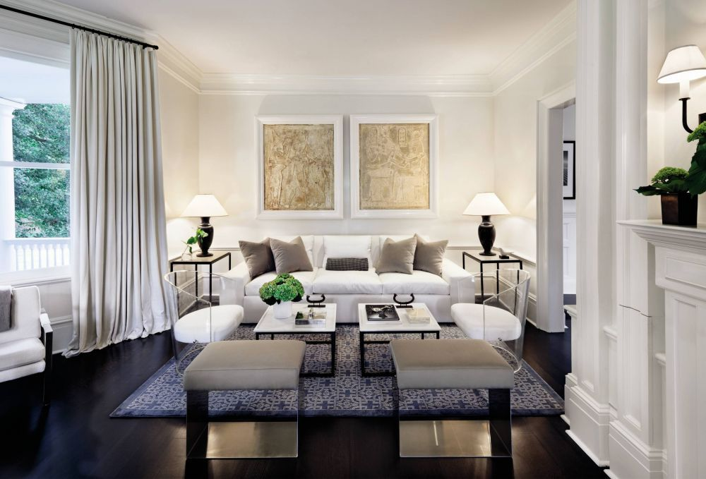 Victoria Hagan designed the serene living room