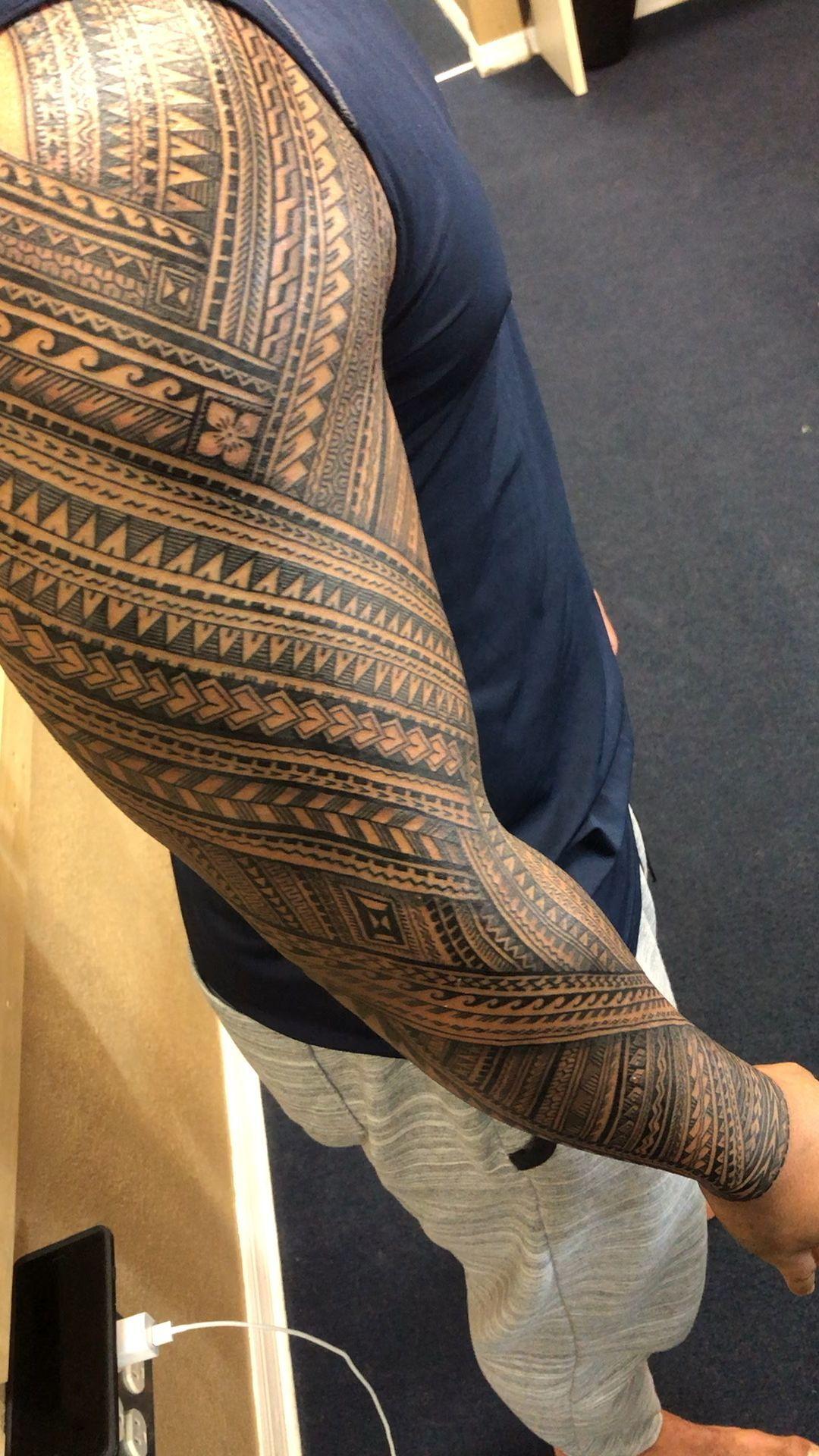 Samoan Tattoo sleeve Michael Fatutoa  #samoantattoo #samoan tattoo #samoan tatto…