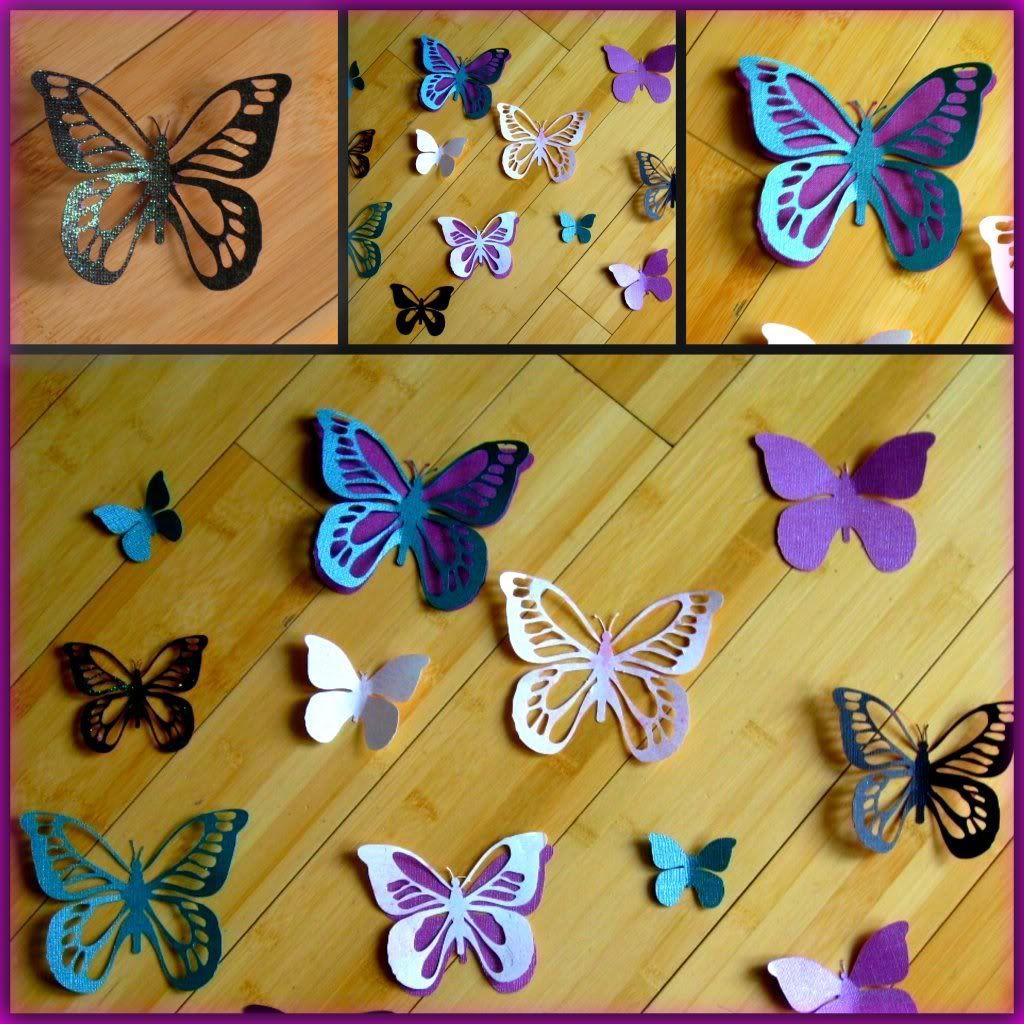 3D Butterfly Template | PaperCuts 3D Butterflies | Wedding ...