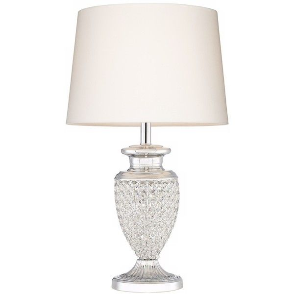 White Crystal Bead Table Lamp