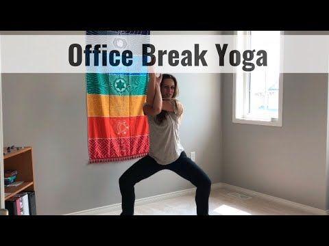 office break yoga  work break stretches  youtube  yoga