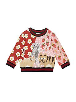 844a47559 Gucci - Baby's Cat-Print Sweatshirt | Baby/Toddler Girl Clothes ...