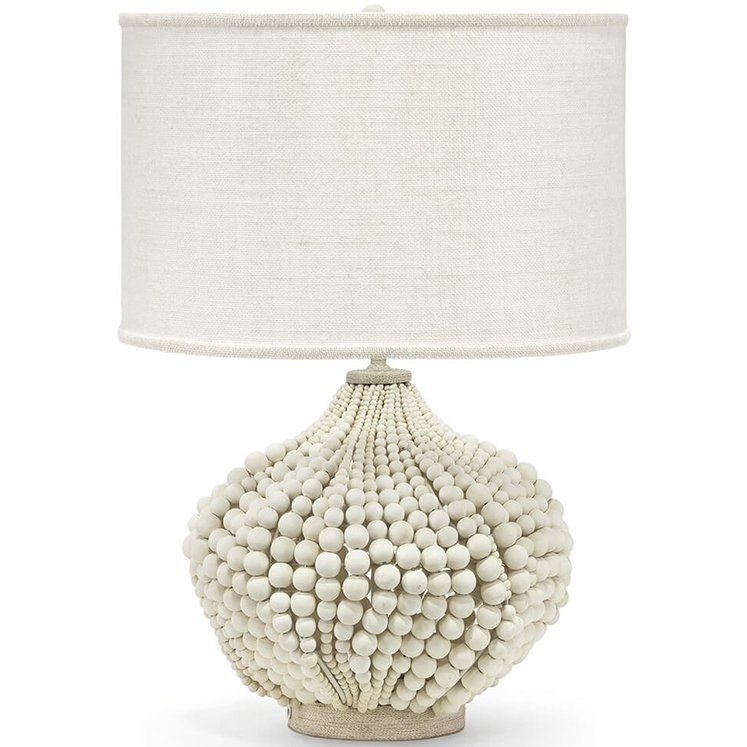 Point Dume Beaded Table Lamp Cream Table Lamps Table Lamp Wood Beads