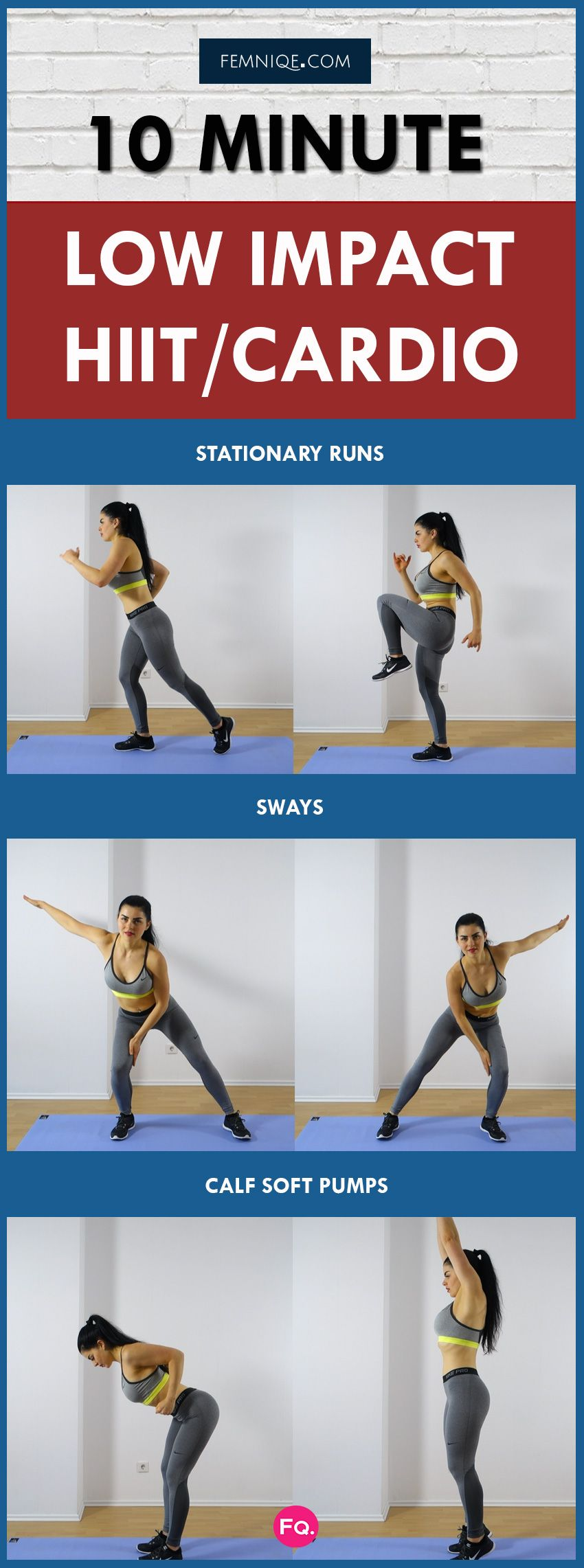10 Minute Knee-Friendly Low-Impact Cardio (Fat Burner   Low impact