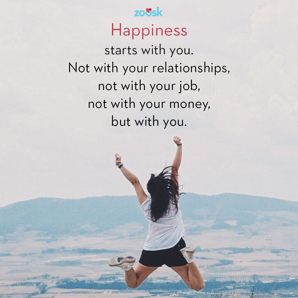 #Happiness is not out there, it's in you. Happiness starts ...