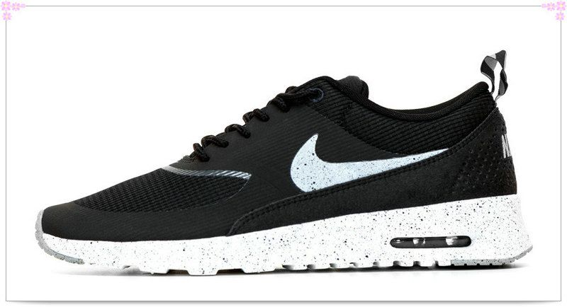2ab1600370 Over 70% Discount Off Popular 2017 Fashion glitter kicks Nike Air Max Thea  Paint Speckled Sole Swoosh Black White Gray