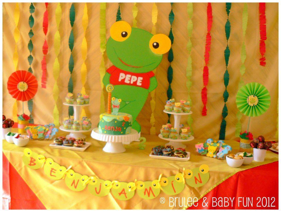 Mesa Sapo Pepe 1 | ideas cumpleaños | Pinterest | Dulces, Caramelo ...