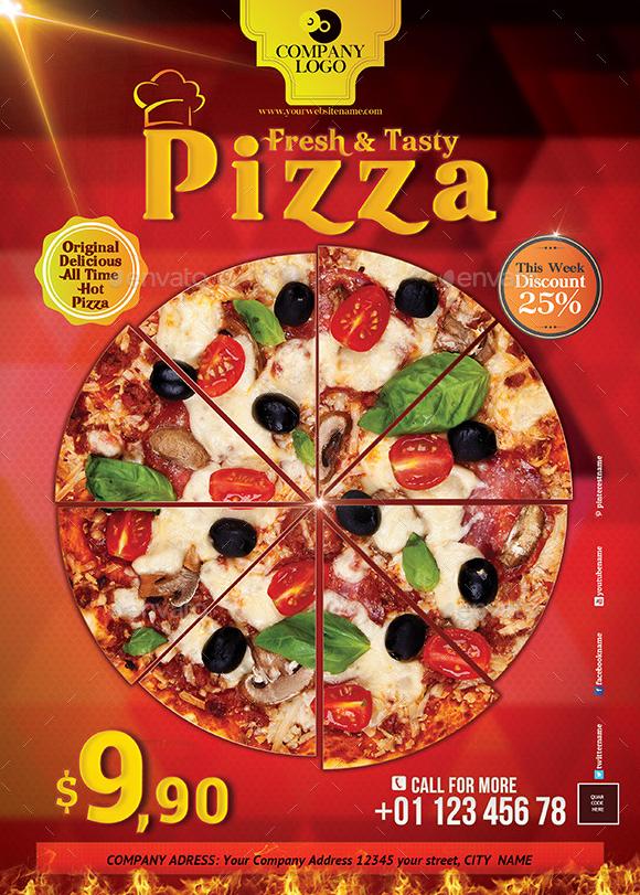 20 Best Pizza Restaurant Flyer Psd Templates Best Pizza Restaurant