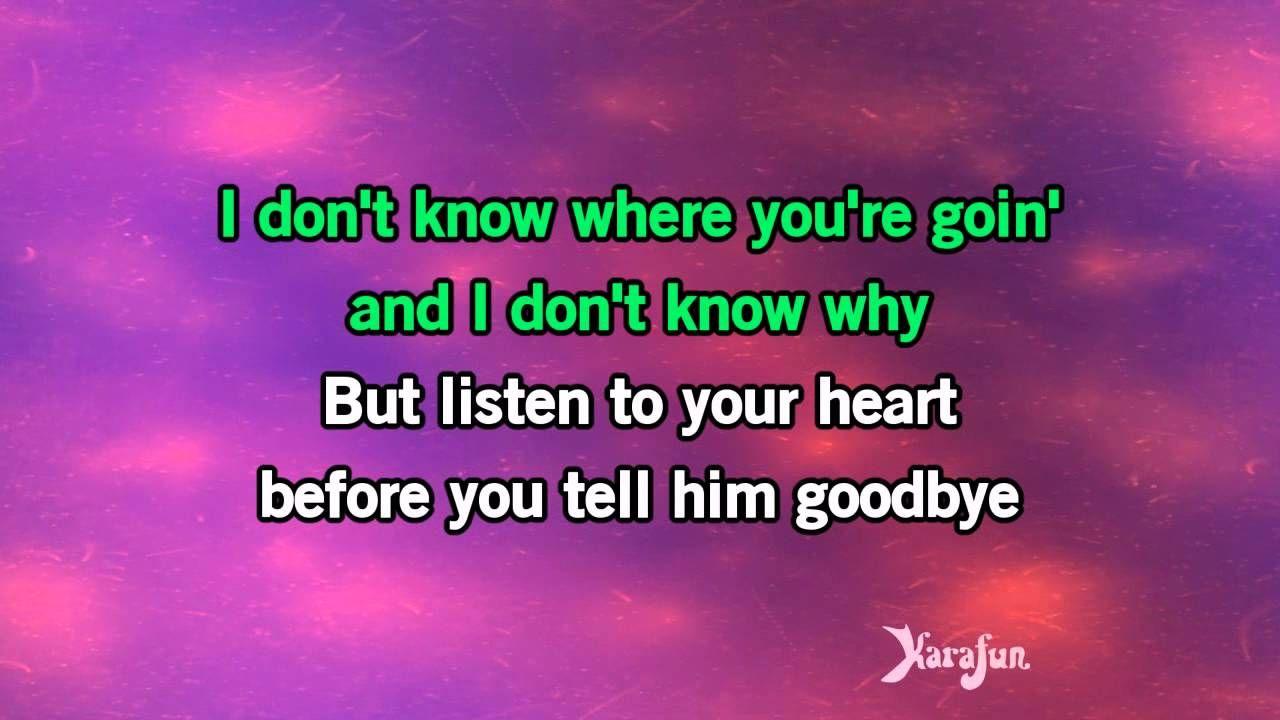 Karaoke Listen To Your Heart Roxette Karaoke Listening To You