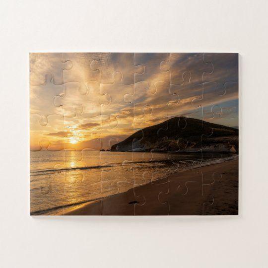 Puzzle de un amanecer en la playa de los Genoveses