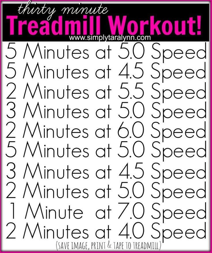 thirty minute Treadmill Workout Treadmill workout