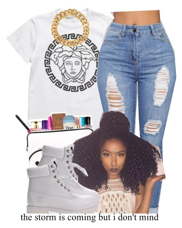 """""""."""" by independentbxtchesonly ❤ liked on Polyvore featuring Timberland and Yves Saint Laurent"""