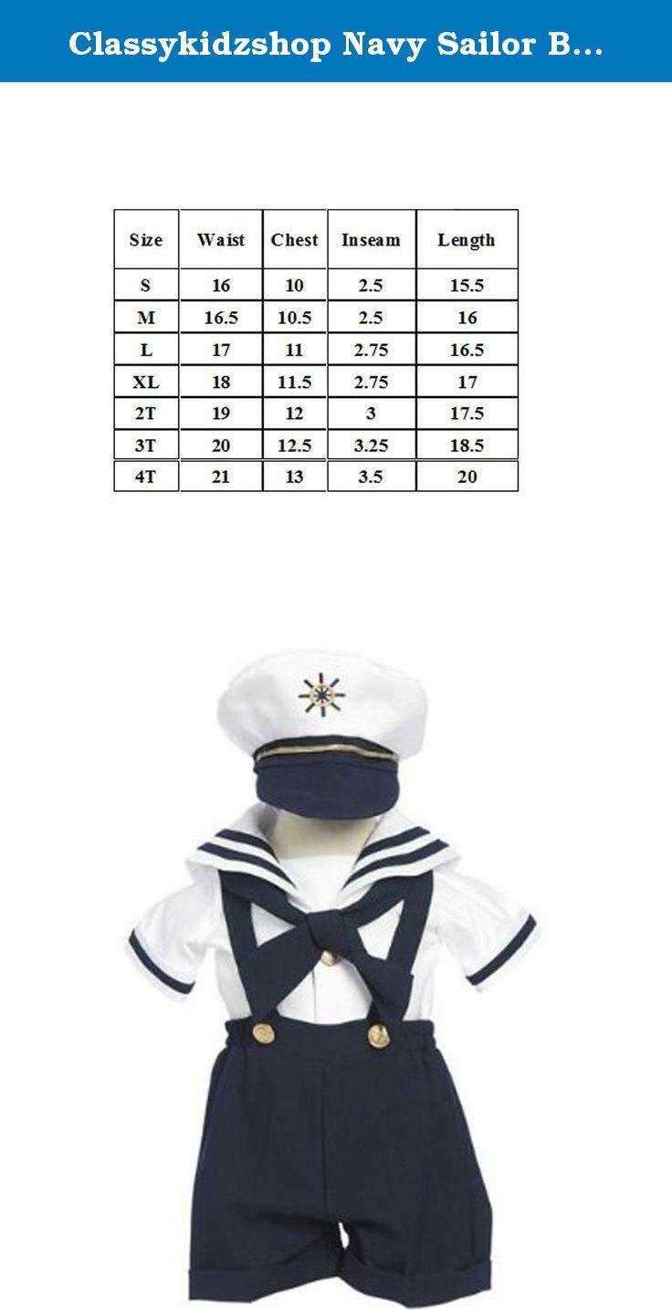 Classykidzshop Navy Sailor Boy Shirt Shorts Baby Tie and Hat