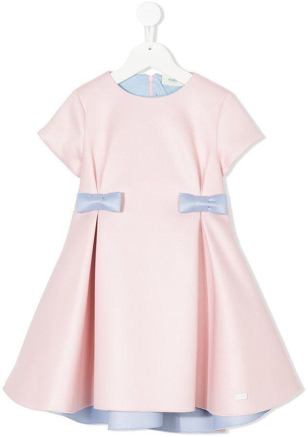 0a6259402f Fendi bow dress | Products | Girls designer dresses, Girls designer ...