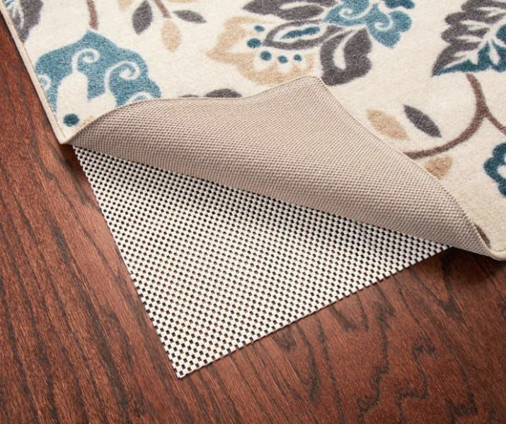 """This rug pad measures 1'8"""" x 3'4"""". Check out larger sizes"""