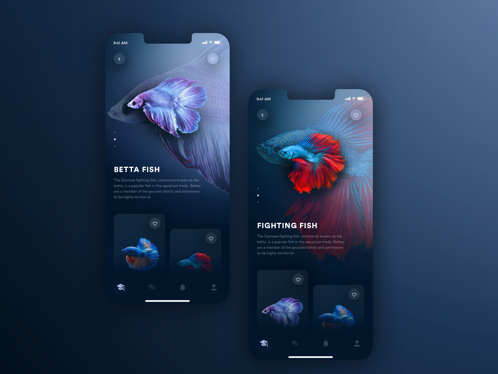 Just Some Fish App design, Mobile app design, App design