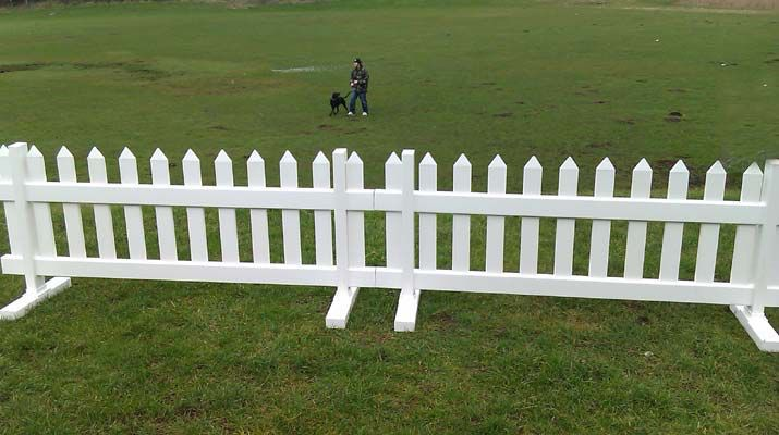 Free Standing White Picket Fence Panels Pvc Fence Backyard
