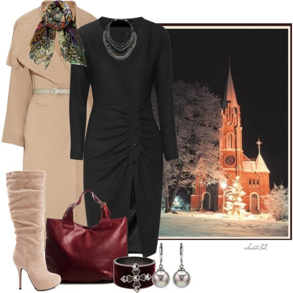 c791ae636868 Christmas Eve Church Service | My Style | Church outfit winter ...