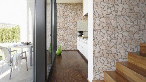 AS Création Tapete Wood`n Stone, Mustertapete in Holzoptik - schöner wohnen tapeten wohnzimmer