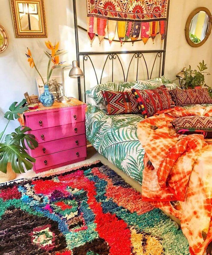 Amazing Bohemian Style Decor Design Ideen Hippie Boho Stil Eclectic Bedroom Design Eclectic Bedroom Bohemian Style Decor