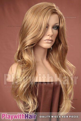 Cheap Wig Hair - Best Synthetic Wig Long Hot Wavy Dark Blonde Wig Online  with  10.82 Piece  ba219e493455