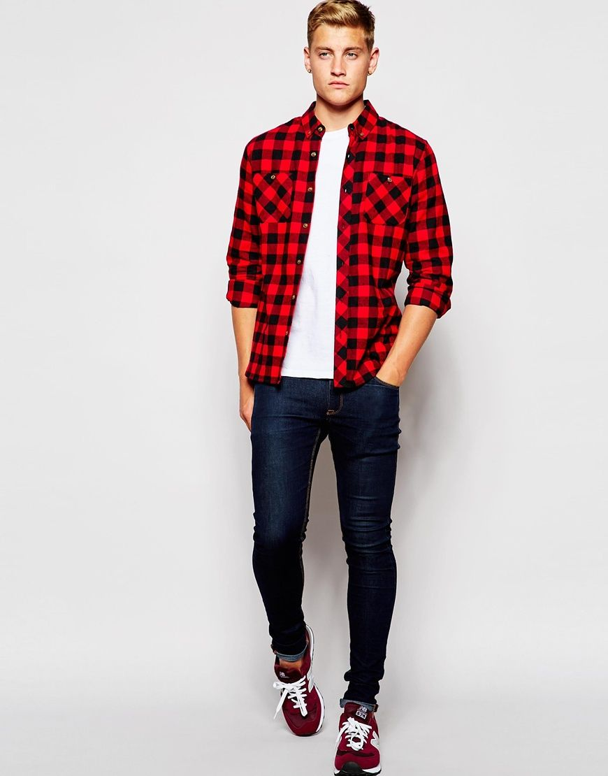 5961cc30 Men's Red Alaska Flannel Check Shirt in 2019 | Never Dress Down ...