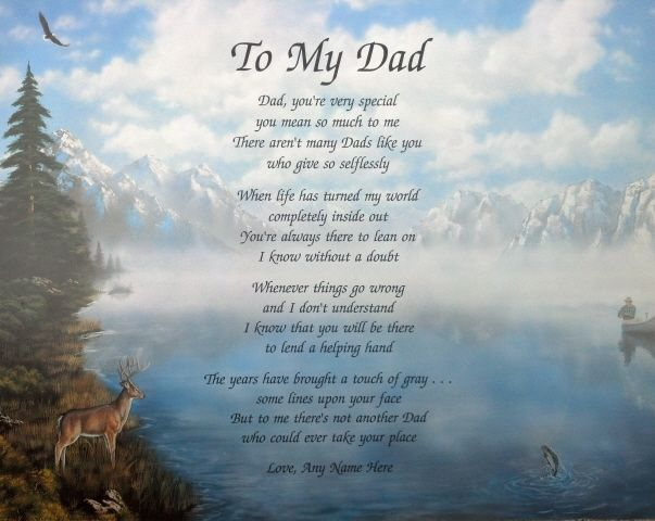 To my dad poem personalized gifts for birthday christmas for Poems about fishing in heaven