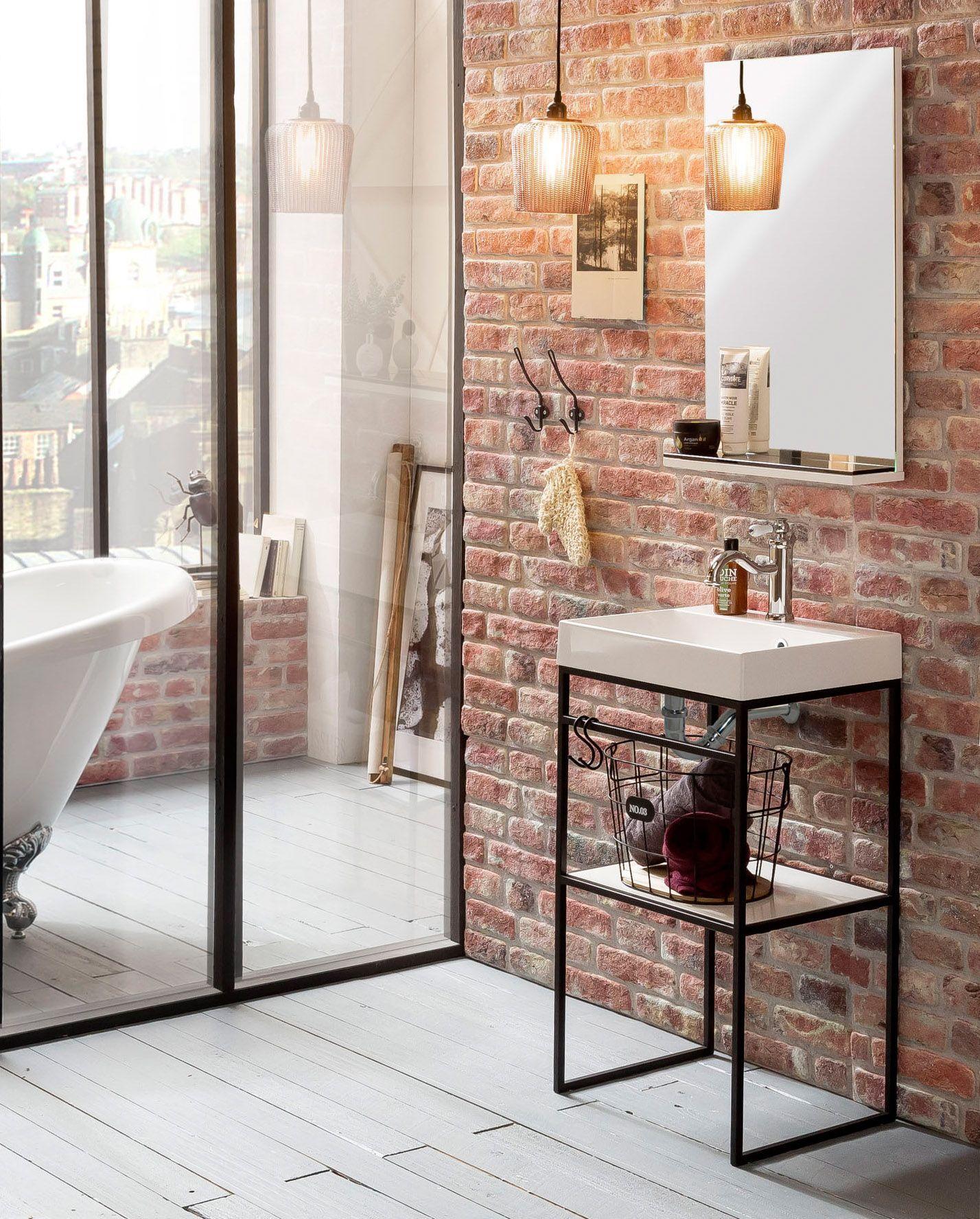 Badezimmerset Moris Waschtisch Klassische Badmobel Wandspiegel