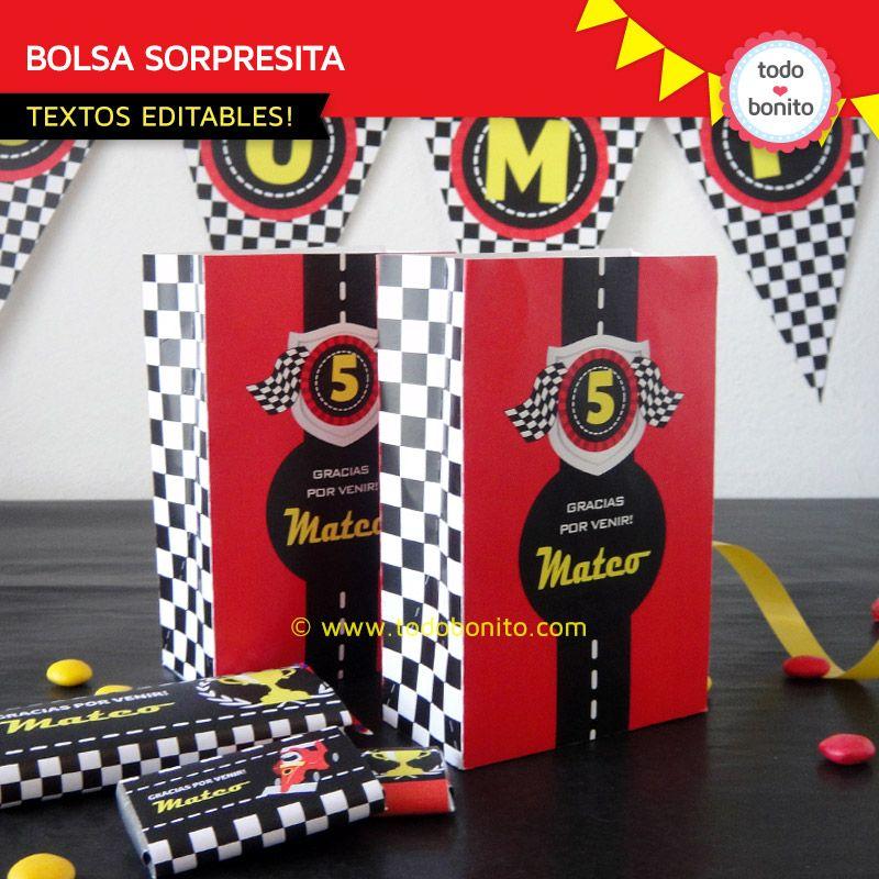 2253933da Bolsa golosinas de autos de carreras para imprimir Carreras De Carros,  Bolsas De Dulces,