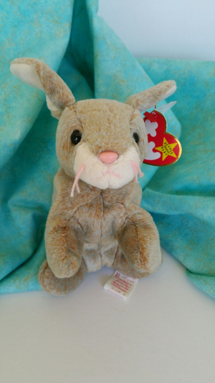 39790a91432 Nibbly Bunny Rabbit Vintage TY Beanie Baby RARE Original Collectible Easter  Decor Nursery Baby Shower Birthday Party Boy Girl Spring Decor by ...