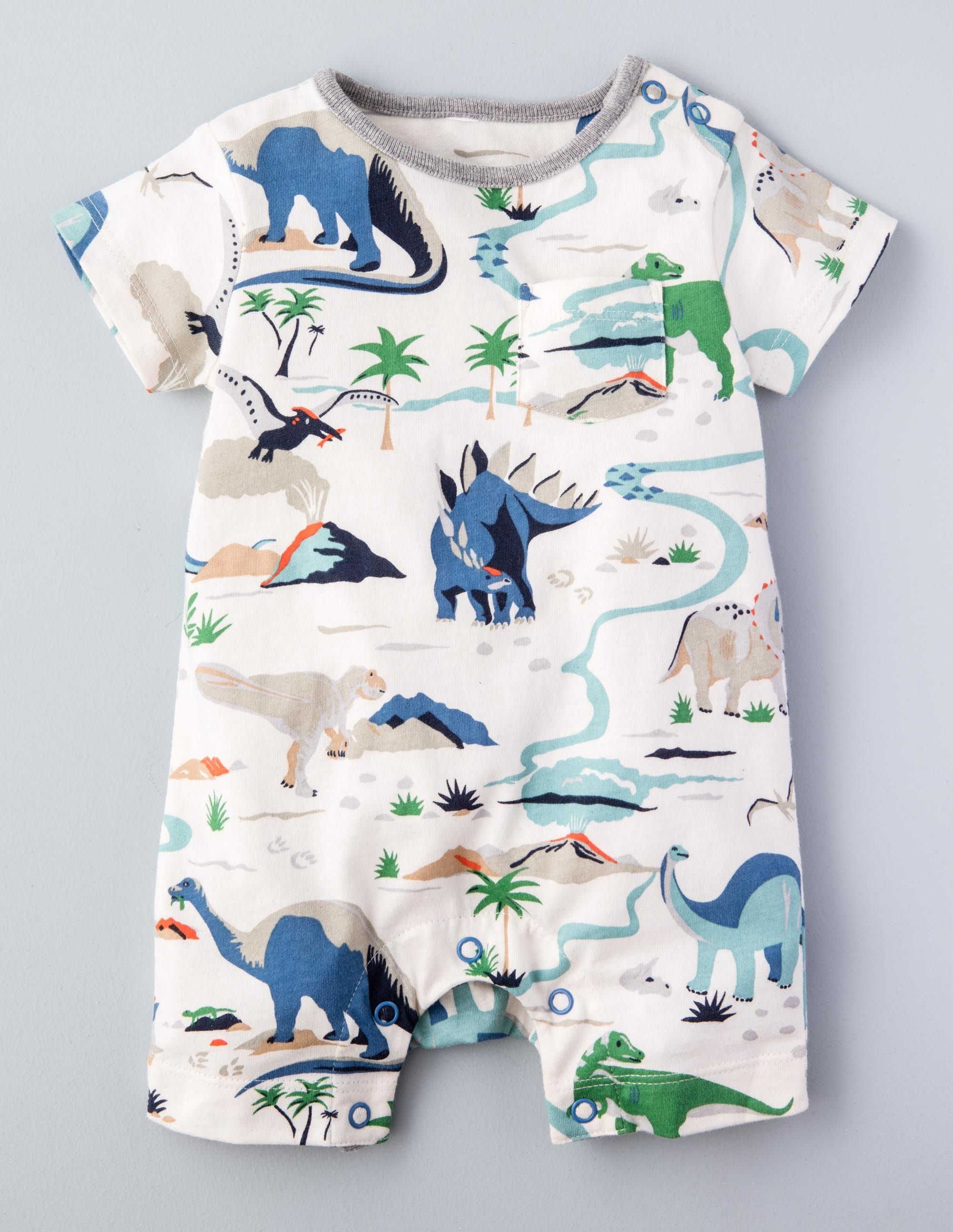 702004935ae8 Summer Dinosaur Romper. Dinosaur Romper Little Boys Clothes