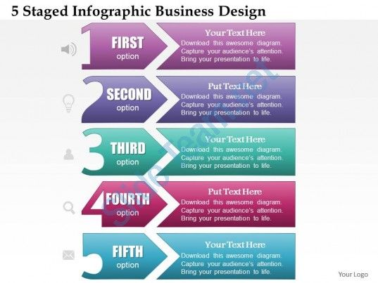 0514 Business Consulting Diagram 5 Staged Infographic Business