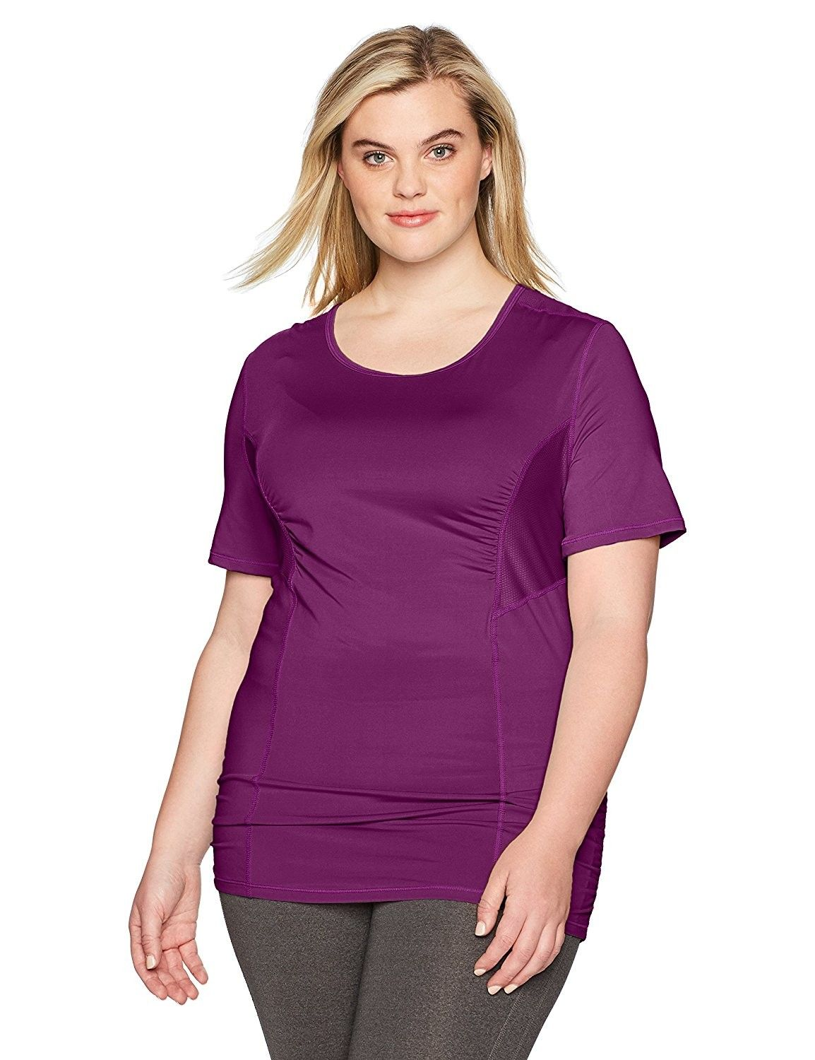 e9098a01f Women's Plus Size Active Mesh Performance Tee - Deep Plum - CB18754YK2Z, Women's Clothing, Active, Active Shirts & Tees #women #clothing #fashion  #style ...