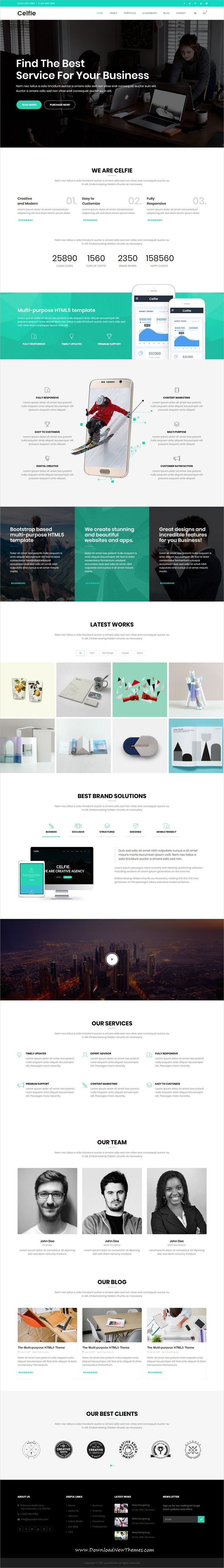 Celfie is clean and modern design responsive multipurpose