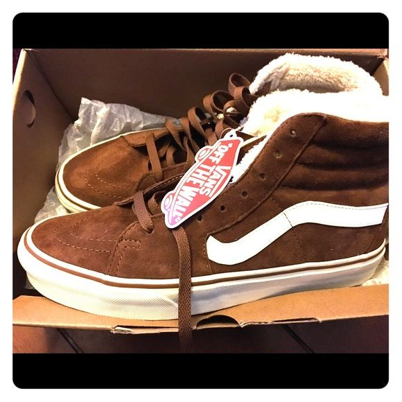 vans skate high pig brown suede