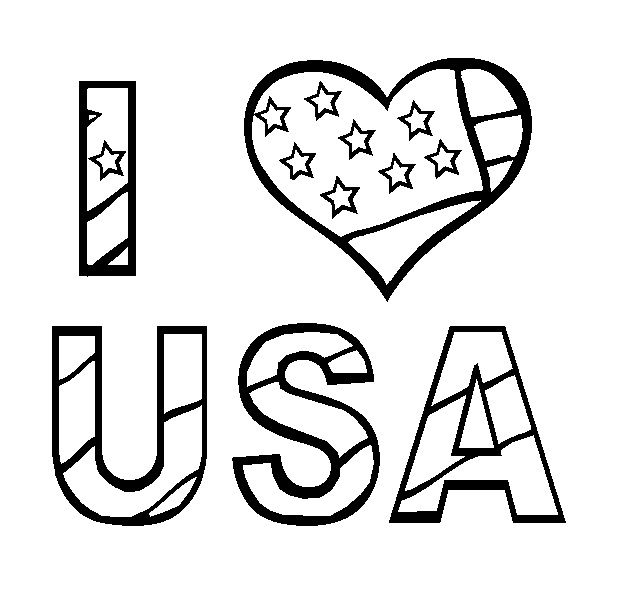 I Love USA 4th of July Printables Pinterest Love, I love and USA - new 4th of july coloring pages preschool