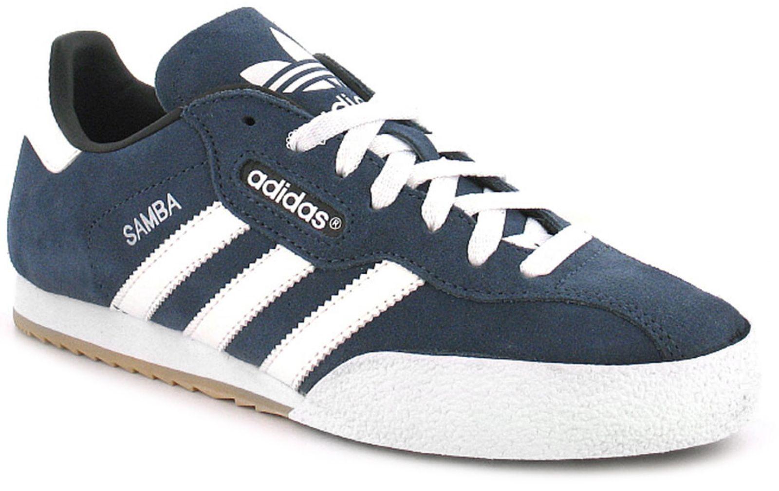 ADIDAS SAMBA SUPER in Pelle Scamosciata Indoor Soccer Shoes Sneaker UK