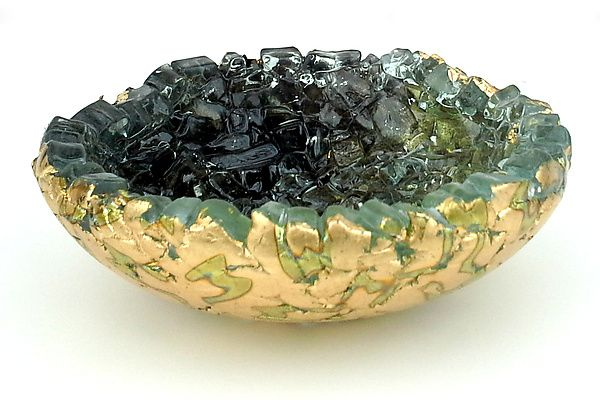 Dark Shadow by Mira Woodworth: Art Glass Bowl available at www.artfulhome.com