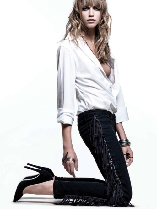 """Hippie a la Parisienne"" Marina Dociatti  for Vogue Brazil September'13."