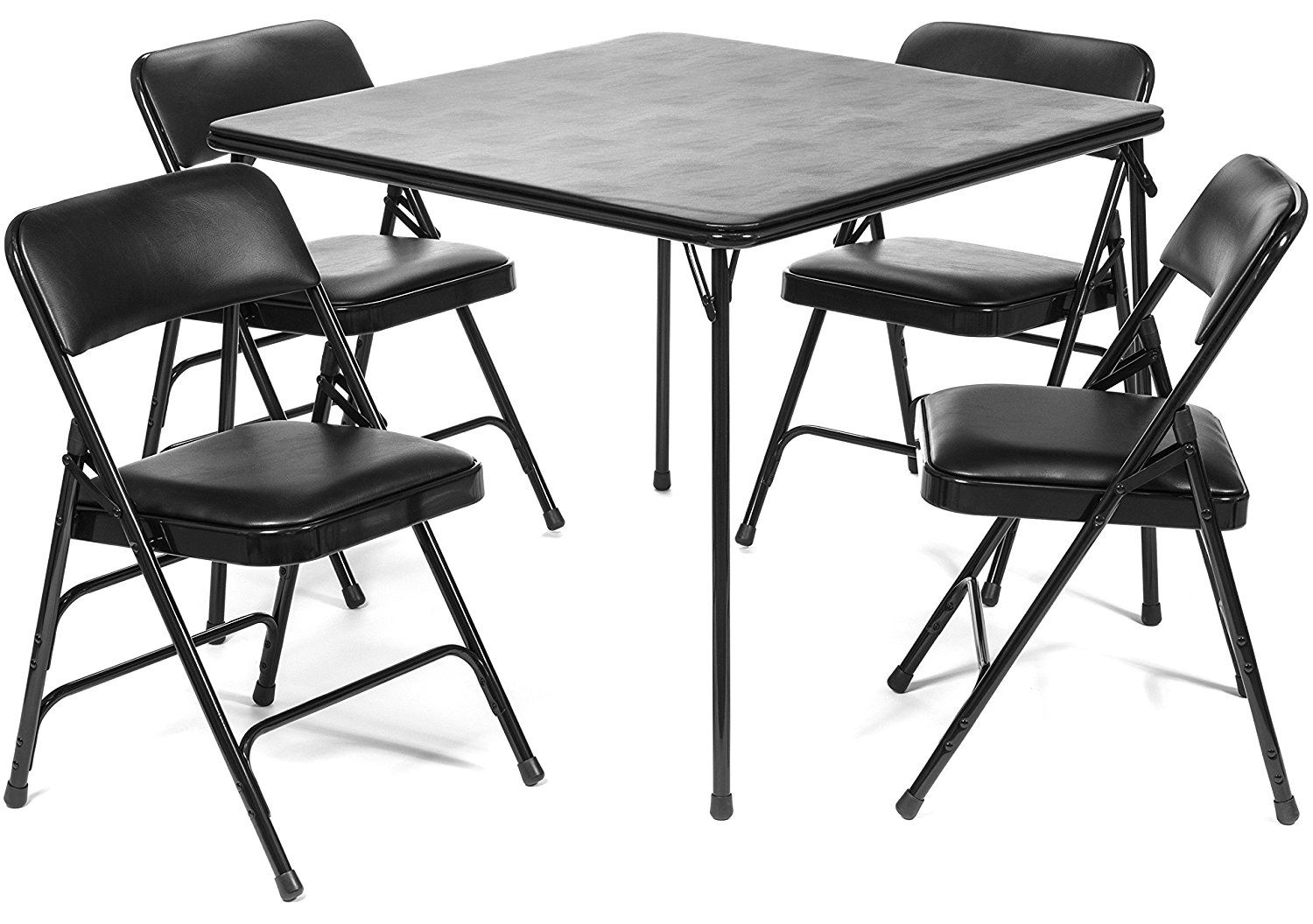 - 5pc XL Series Folding Card Table And Ultra Thick Padded Chair Set