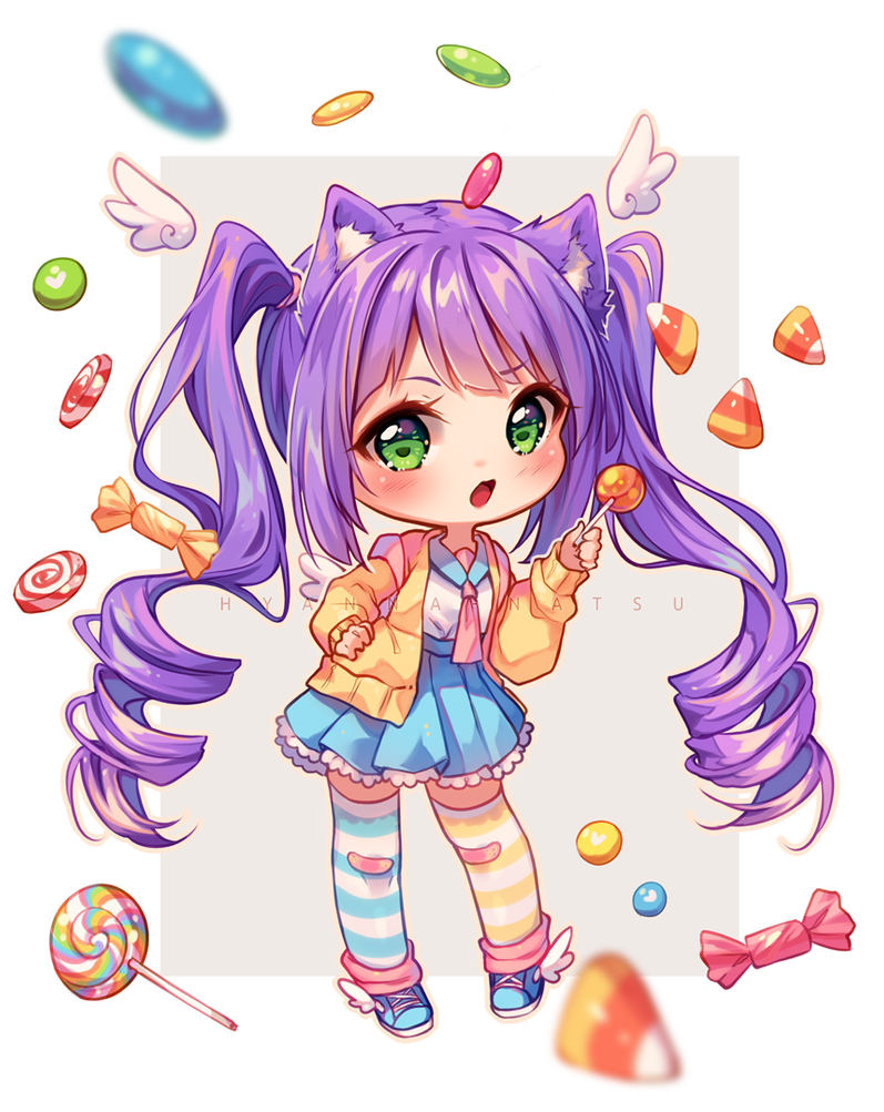Video Commission Candy Logic By Hyanna Natsu On Deviantart Cute Anime Chibi Chibi Girl Drawings Cute Kawaii Drawings