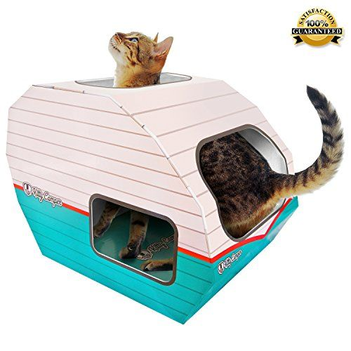Robot Check Cardboard Cat House Cool Cat Toys Cat Toys