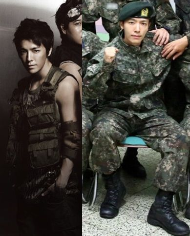 10 Korean Idol Military Looks On Stage Vs On Active Duty