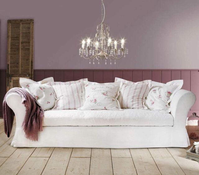 deko kissen altrosa wandfarbe weiße polsterung | wände | pinterest ... - Rosa Wandfarbe Wohnzimmer