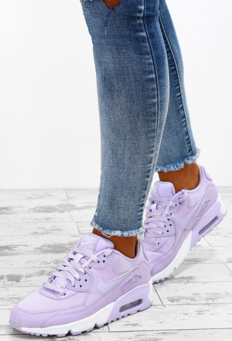 Nike Air Max 90 Lilac Trainers UK 3 in 2020 Nike Air Max  Nike air max