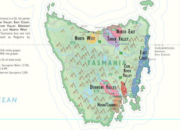 Map Of Australia And Tasmania.Wine Map Of Australia Australian Wine Tours Wine Australia Map Map