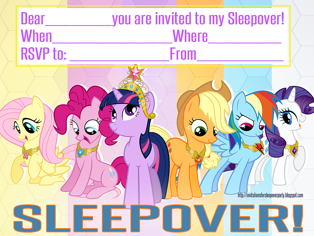 INVITATIONS FOR SLEEPOVER PARTY: MY LITTLE PONY FREE PRINTABLE ...