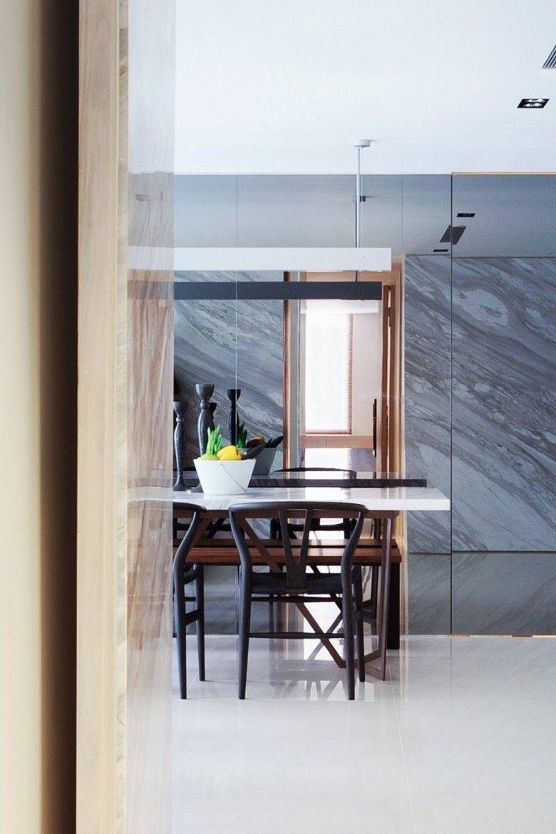 Residence Chang by ATELIERII | Clean slate, Taipei and Slate