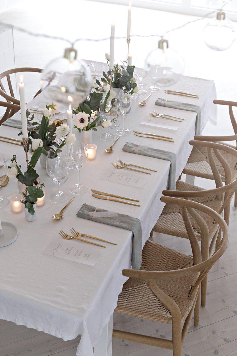 Wedding table setting - Stylizimo. Buffet Style ... & Wedding table setting | White flowers Flowers and Wedding tables
