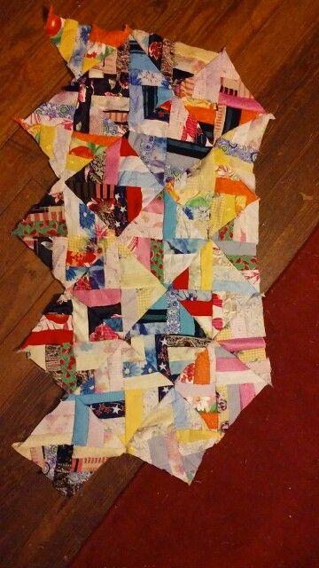 My quilt so far  All handsewn